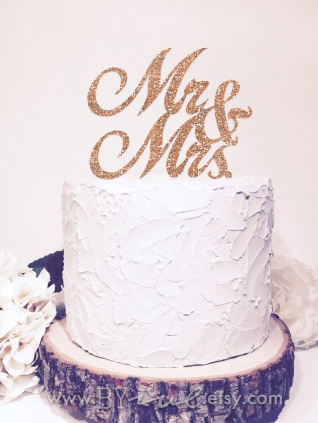 sparkle wedding cake toppers mr amp mrs cake topper glitter sparkle chic wedding decor 20305