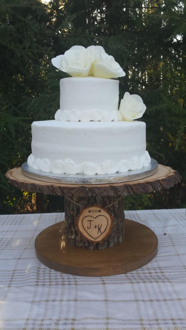 personalised tree trunk wedding cake stand wood cupcake stand personalized cake stand log cake 18224