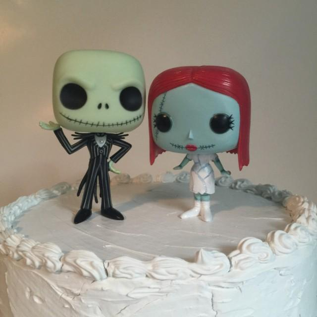 jack and sally wedding cake topper custom funko pop and sally wedding cake topper set 16559