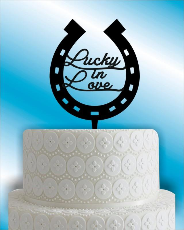 horseshoe wedding cake toppers horseshoe wedding cake topper monogram wedding cake 15319
