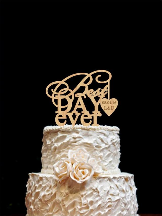 best wedding cake toppers ever best day cake topper wedding cake topper wood 11703