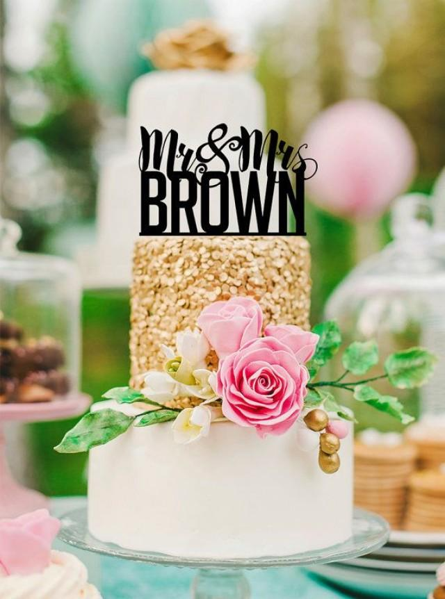 wedding cake topper personalised names personalized name cake topper quot mr amp mrs quot custom wedding 26367