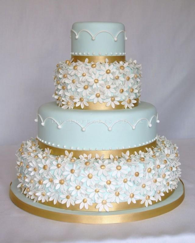 light blue and gold wedding cakes cake blue and gold cake 2519034 weddbook 16847