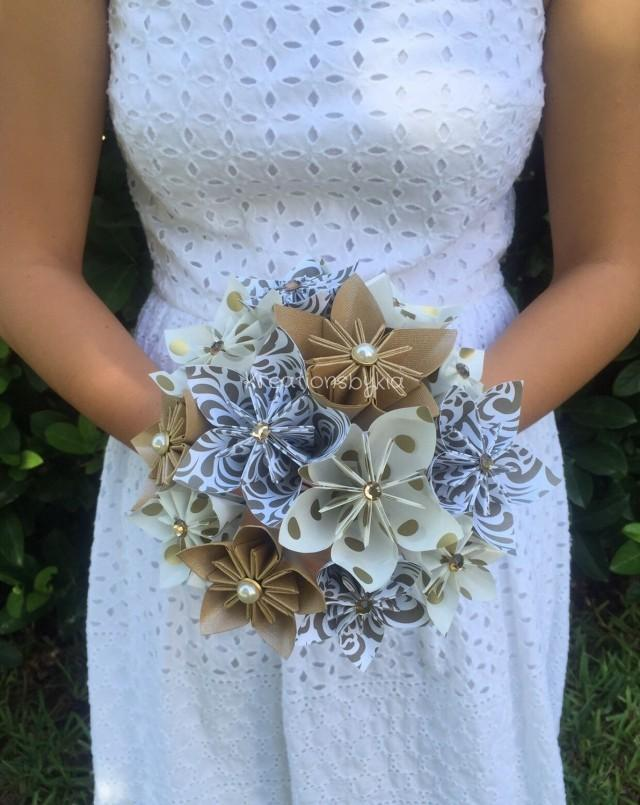 paper flower bouquets for weddings gold paper flower bouquet paper bridal bouquet 6365