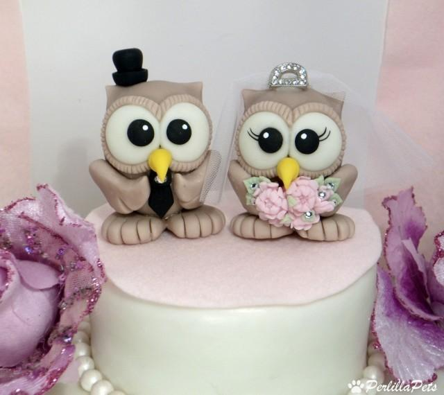 owl wedding cake owl wedding cake topper with tiara and banner for 18099