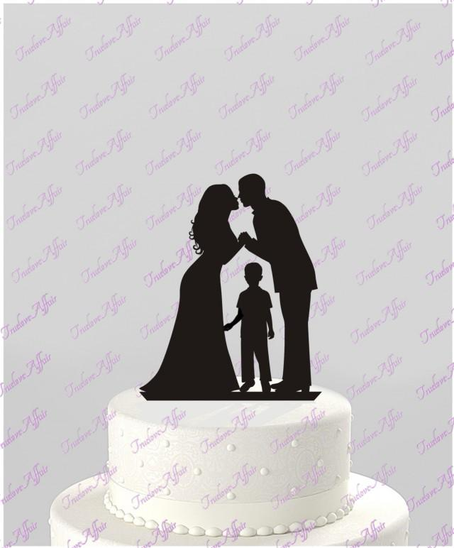 wedding cake toppers with baby boy wedding cake topper silhouette groom and with 26625