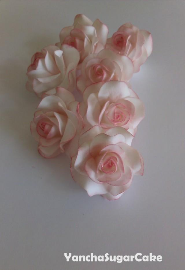 wedding cake fondant flower toppers fondant gumpaste edible flowers roses wedding flowers 22689