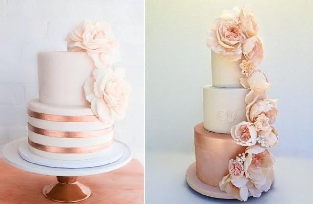 rose gold and cream wedding cake wedding theme gold wedding cakes bronze amp copper 19267