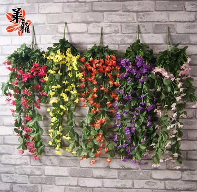 fake plants for living room new wall lilac vine with silk 7 colors 1500 heads 18103