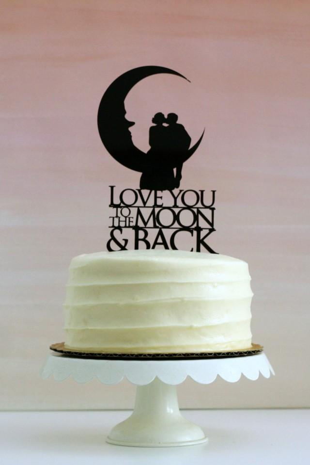 silhouette wedding cakes ideas you to the moon and back silhouette wedding cake 19823