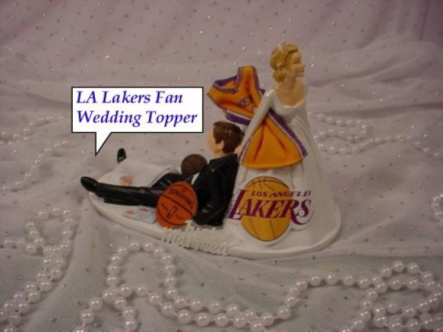 basketball wedding cake toppers la lakers basketball fan sports anxious dragging 11106