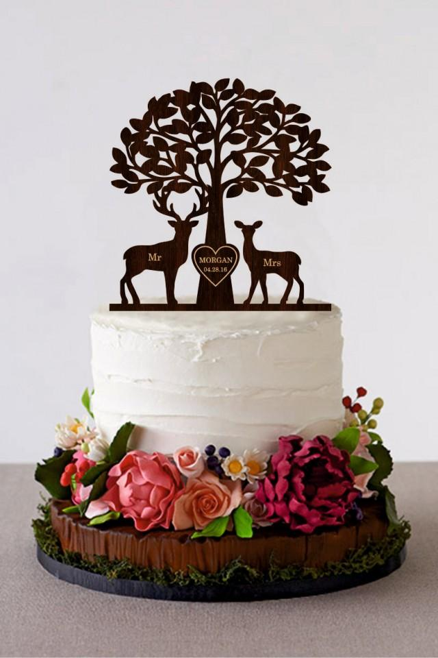 buck and doe wedding cake toppers deer cake topper wedding cake topper mr amp mrs deer cake 12203