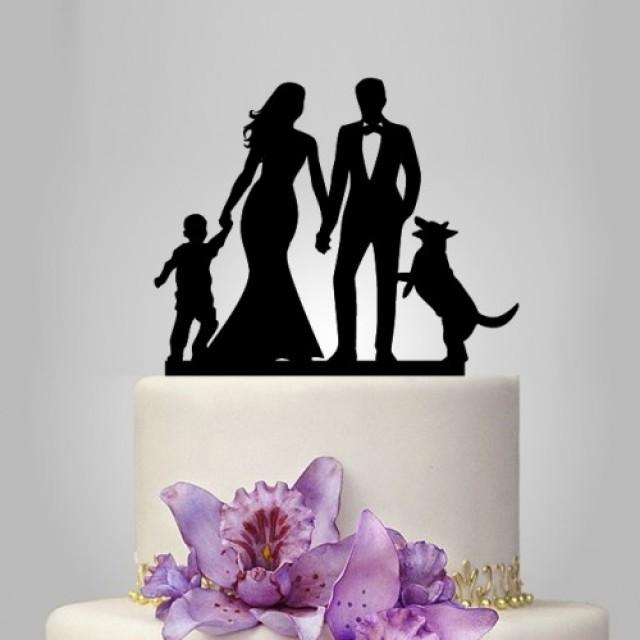 wedding cake topper with baby and dog wedding cake topper with and groom topper 26653