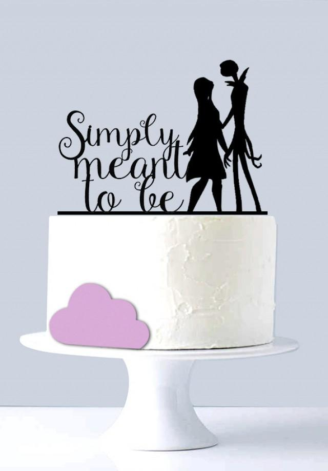 jack skellington and sally wedding cake topper simply meant to be nightmare before 16564
