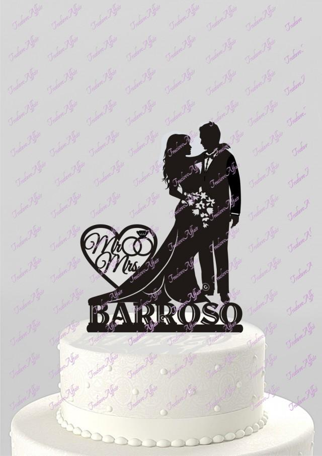 last name wedding cake toppers wedding cake topper silhouette and groom with last 16722