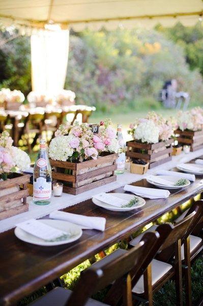 Country Rustic Wedding Centerpiece Ideas