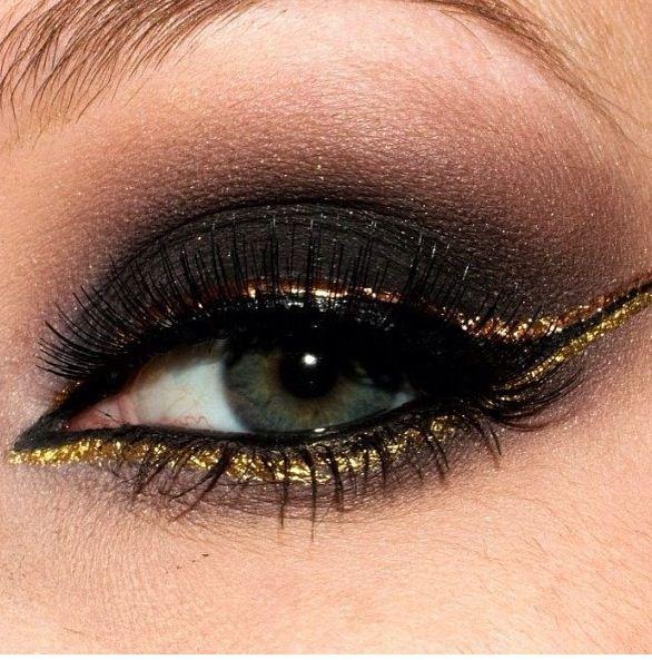 Gold Wedding Gold Eye Shadow Weddbook