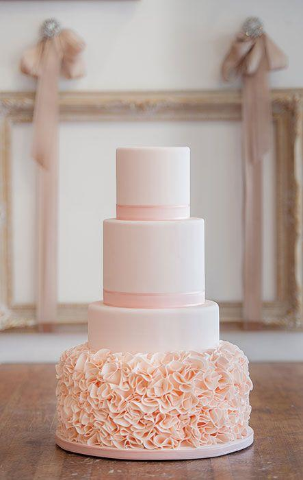 Such A Pretty Blush Wedding Cake