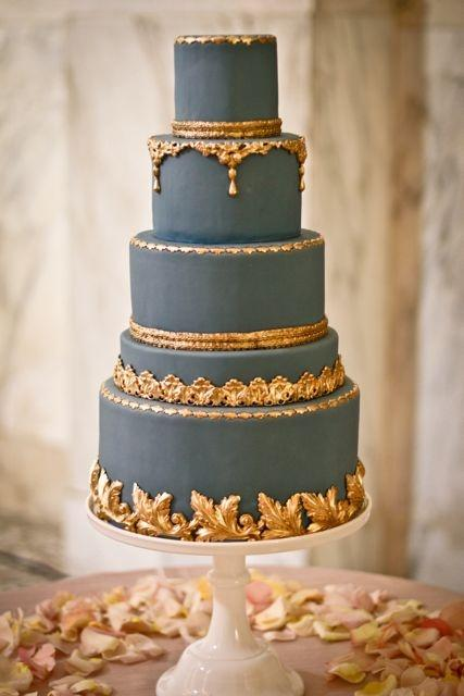 wedding cake navy blue and gold navy wedding navy blue amp gold cake 2039679 weddbook 23301