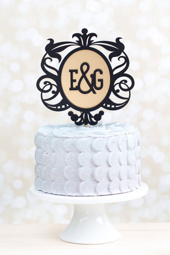black and gold wedding cake toppers monogram wedding cake topper black and gold 2040157 11816