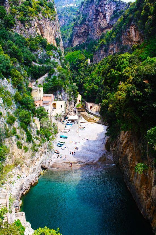 Secluded Beach Furore Amalfi Italy