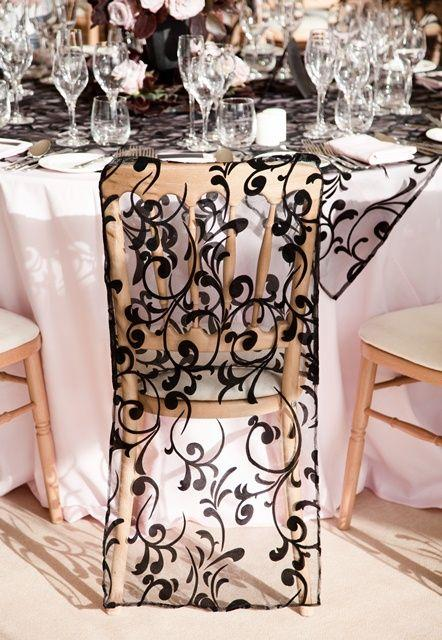 Black Lace Chair Cover
