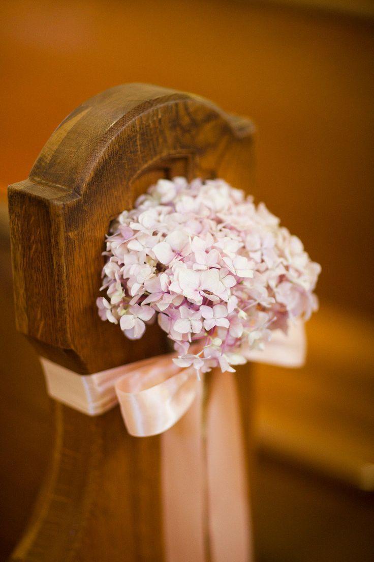 Hydrangea Als Kirche Hochzeits Gang Dekor Foto Nach Borrowed Blau Alt Neu