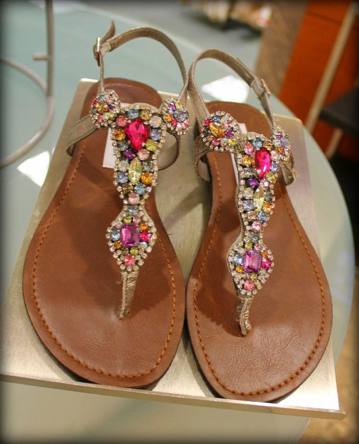 Steve Madden Flat Jeweled Sandals