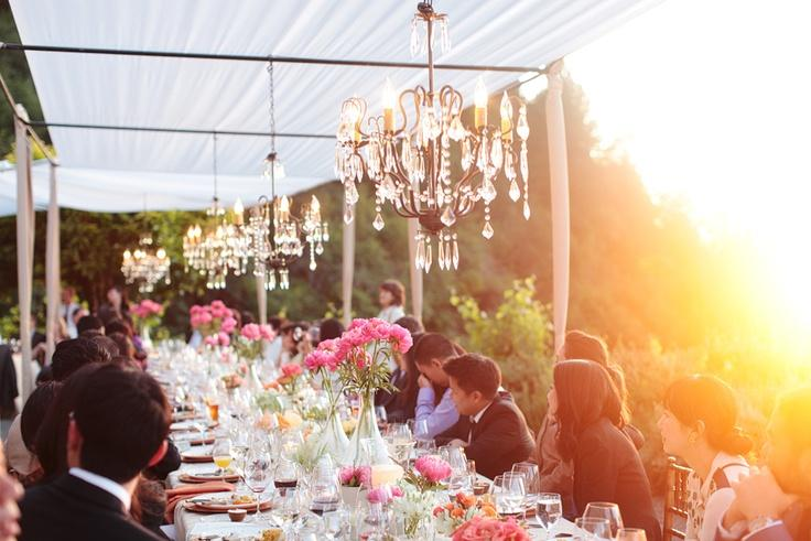 Outdoor Chandeliers Wedding