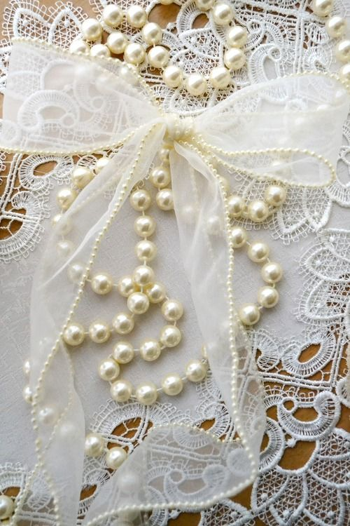 Weddings Vintage Lace Pearls Rhinestones