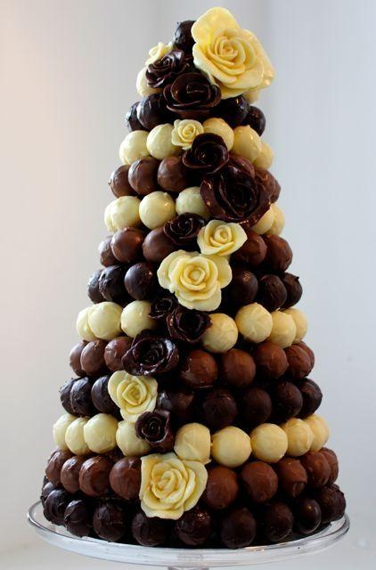 wedding cake truffles wedding cakes truffle tower 2063143 weddbook 26727
