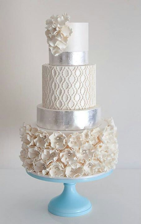 Winter Wedding Cake See More About Winter Wedding Cakes Silver Wedding