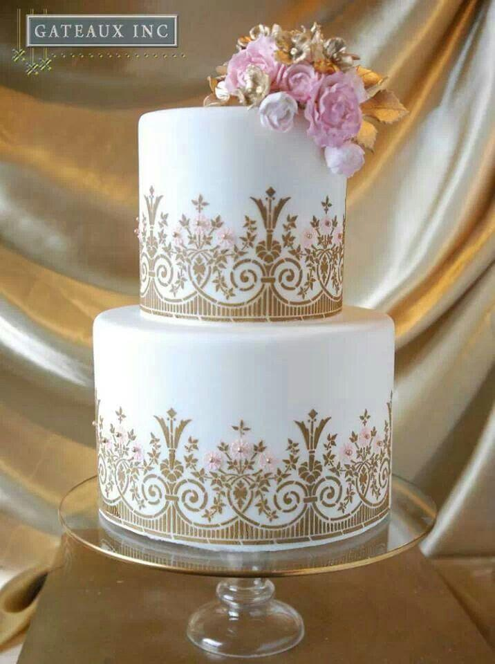 gold and white wedding cake ideas white and gold white and gold cakes 14744