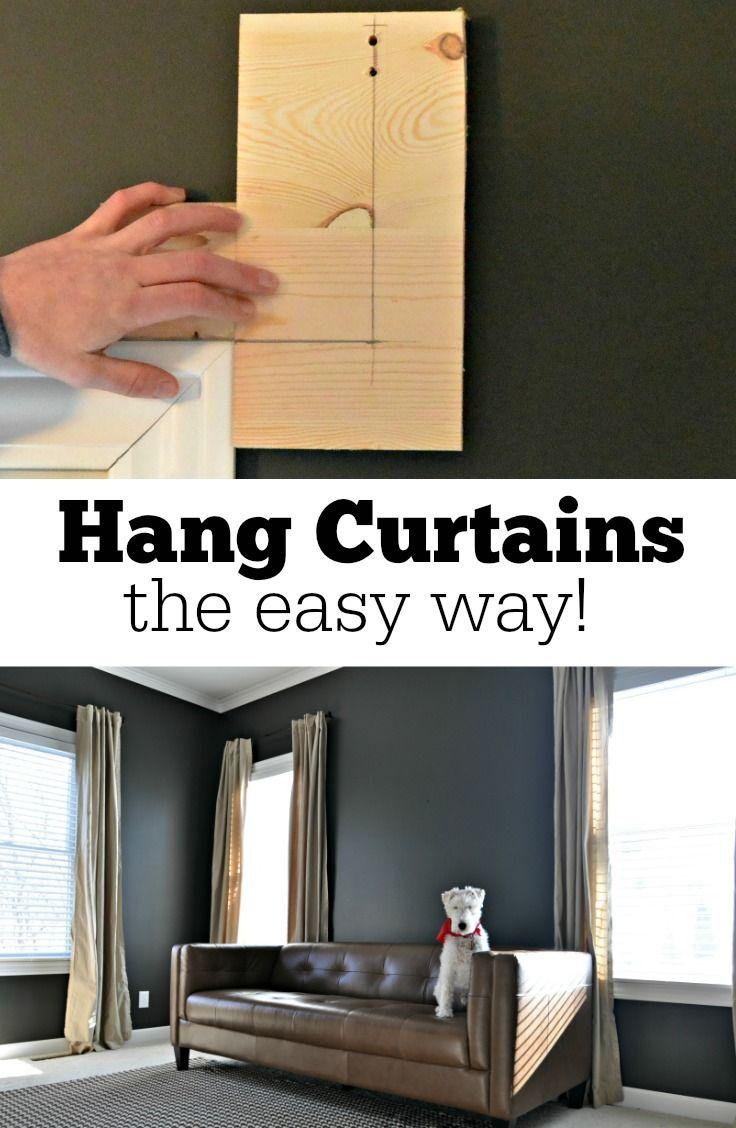 How To Hang Curtains The Easy Way