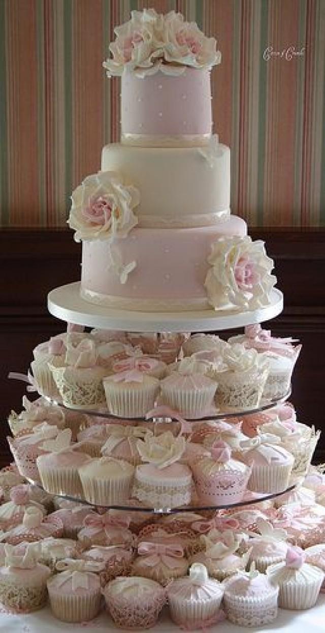 Tower Wedding Cake Four Layers Pastry Whole Shelf Acrylic Cupcake