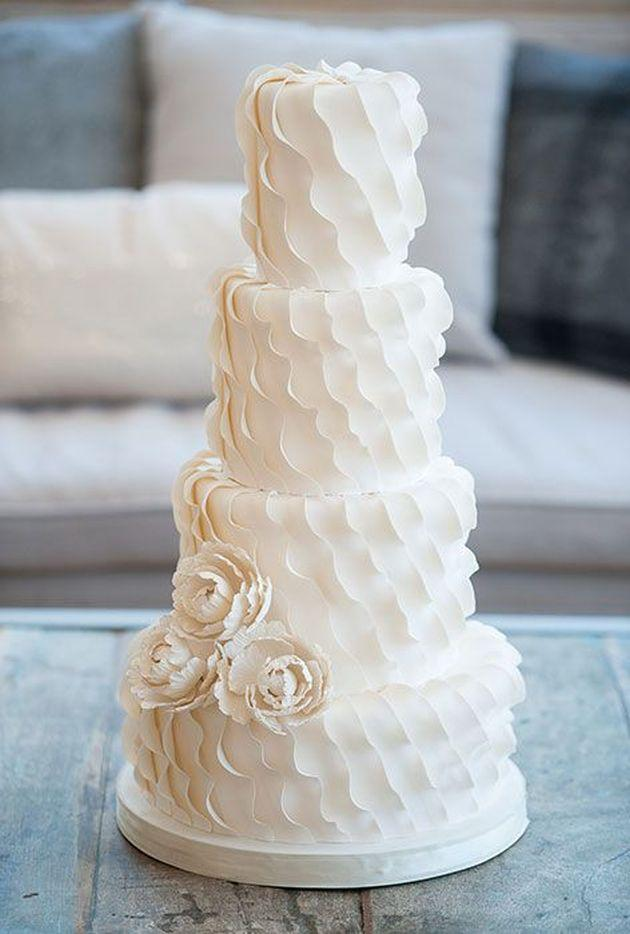 2017 Wedding Cake Trends 6 Textured Cakes