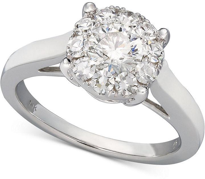 Prestige Unity Diamond Ring 14k White Gold Engagement 1 2 Ct T W