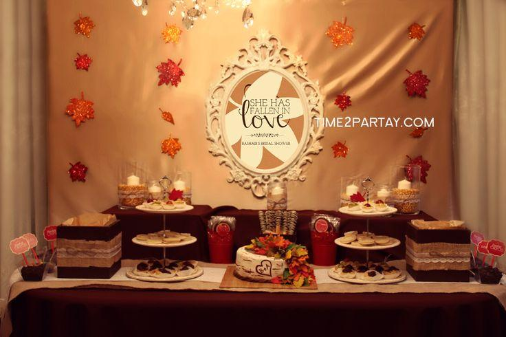 Autumn Bridal Wedding Shower Party Ideas