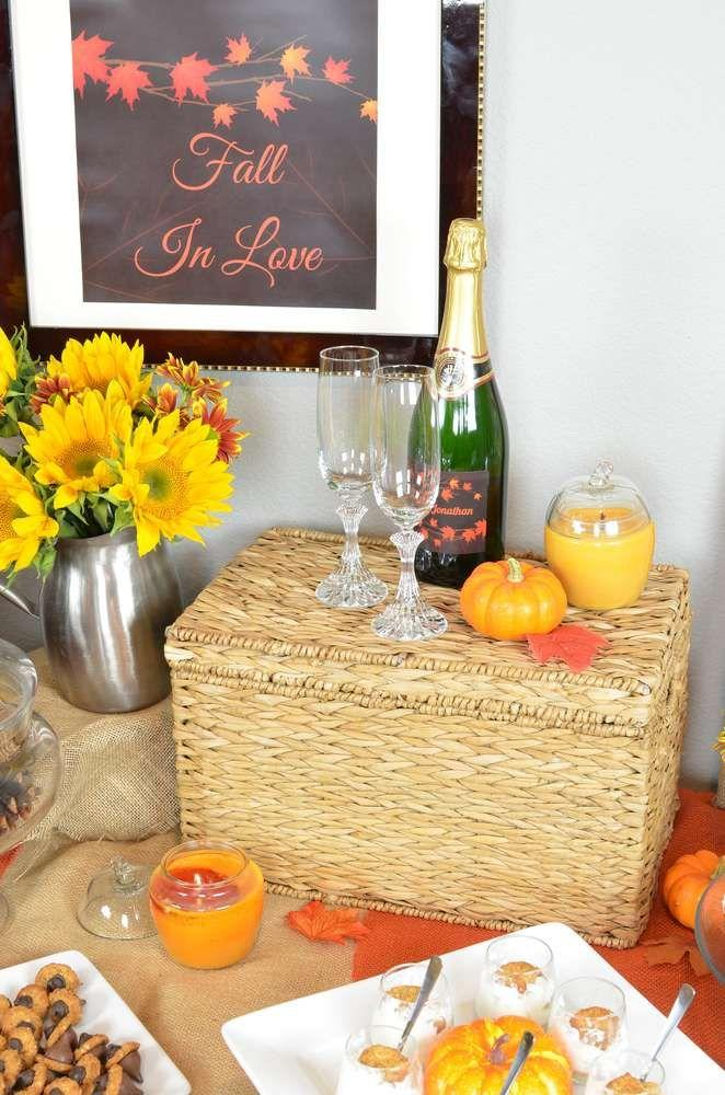 Autumn Leaves Bridal Shower Wedding Party Ideas