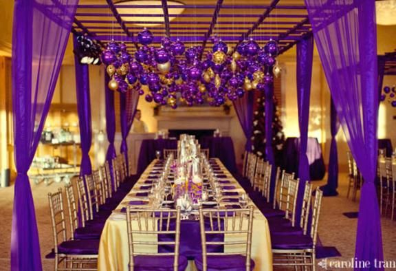 Ideas Planning A Purple And Gold Wedding Theme