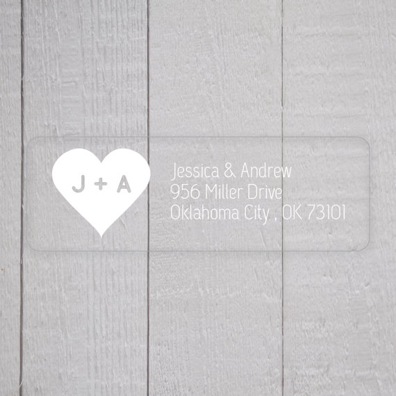 Wedding Invitation Return Address Labels White Ink Clear Stickers Transpa For Invitations 307