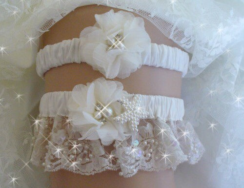 Pearl Starfish Wedding Garter Belts Beach Bridal Set Accessories