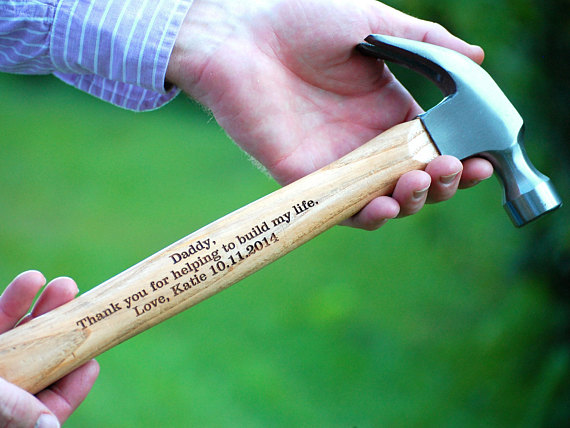 Personalized Hammer Father Of The Bride Groom Wedding Gift Groomsmen Keepsake