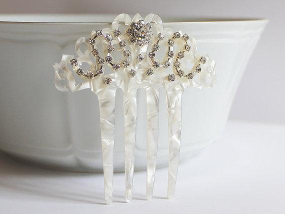 Pearl Rhinestone Bridal Hair Comb