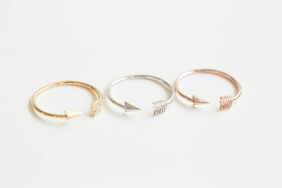Mini Arrow Knuckle Ring knuckle Ring pinky Ring midi Ring mid