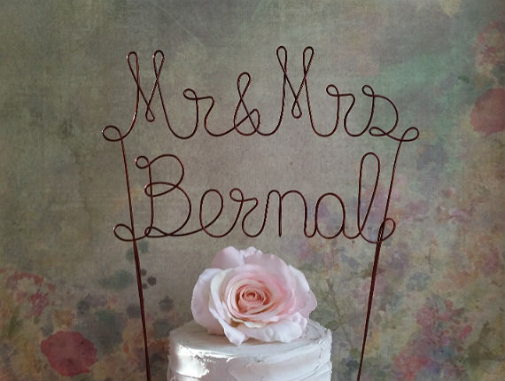 last name wedding cake toppers personalized mr amp mrs last name cake topper banner 16722