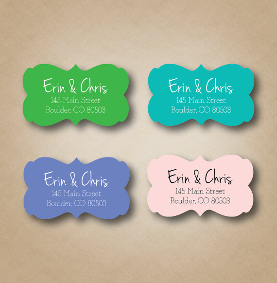 Ornate Return Address Label Personalized Labels Stickers Envelope Seals Wedding Invitation Modern