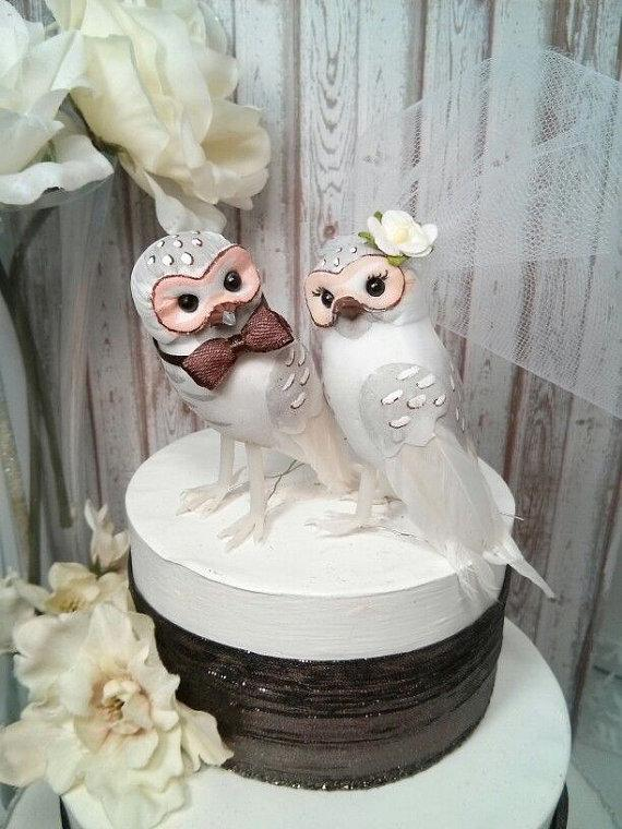 owl wedding cake toppers for sale chic wonderful white and brown barn owls wedding 18102