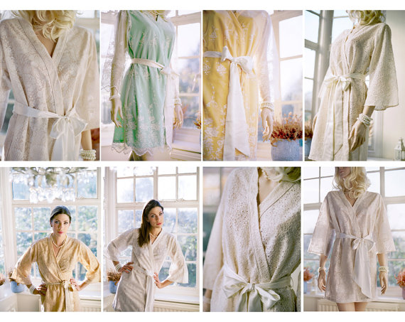 3 Lace Robes Ready To Ship Great As Bridal Party And Wedding Day Limited Edition