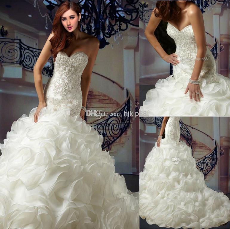 mermaid wedding dress with ruffles | Wedding